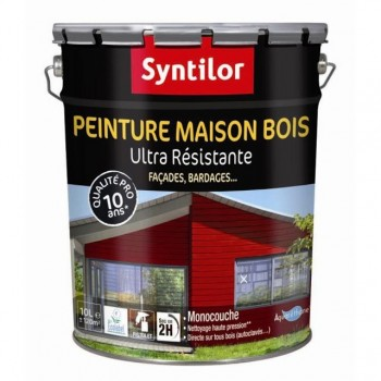 Peinture maison bois Syntilor 10L Blanc satin