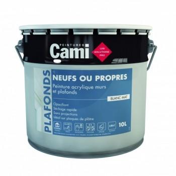 Peinture Cami murs et plafonds blanc Mat 10L