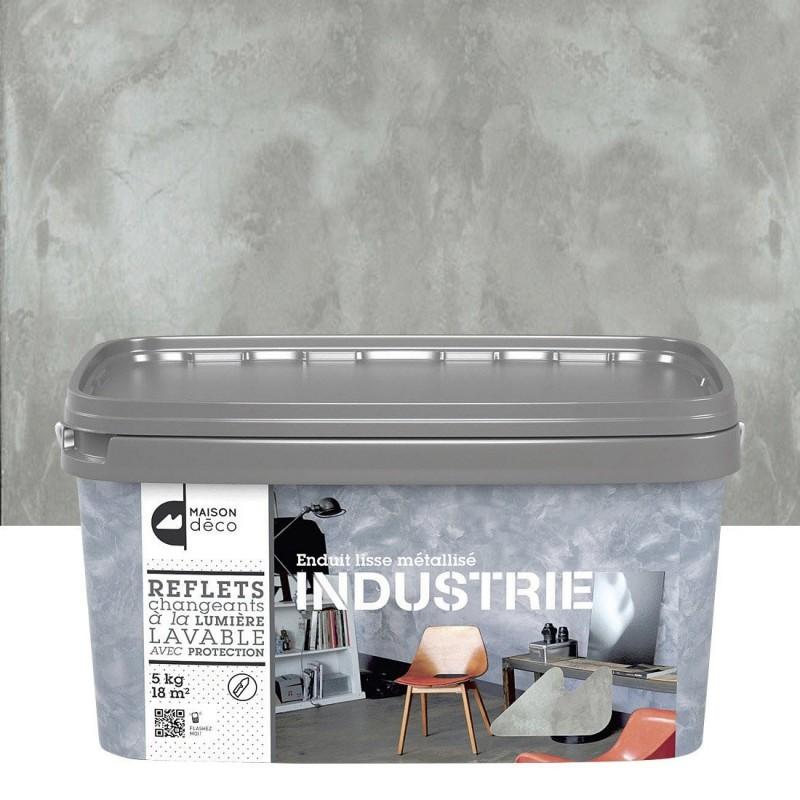 Enduit industrie maison d co effet m tallis lisse structur en 5kg - Enduit lisse metallise ...