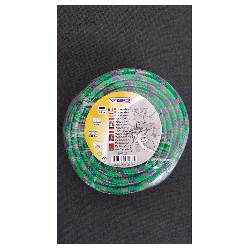 Corde Polyester Viso diamètre 8 longueur 20m
