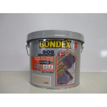 SOS rénovation terrasses, sols, marches, barrières BONDEX 2.5L