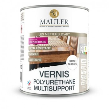 Vernis polyuréthane multisupport satin incolore MAULER 2.5L