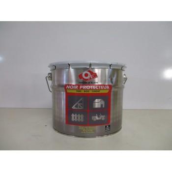 Vernis noir protecteur fers, bois, ciment OXI 2L
