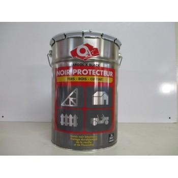 Vernis noir protecteur fers, bois, ciment OXI 5L
