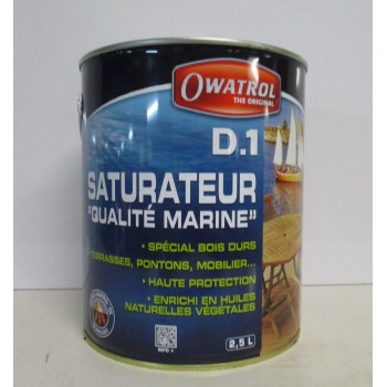 "Saturateur ""qualité marine"" OWATROL 2.5L incolore mat"