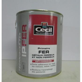 Primaire fer CECIL PROFESSIONNEL 2.5L gris
