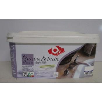 Peinture cuisine et bain OXI 2.5L blanc mat