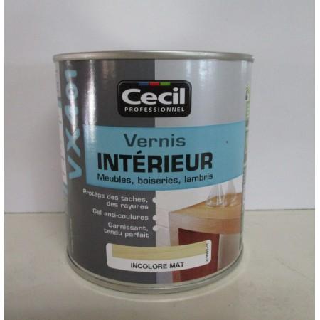 VX401 Vernis intérieur CECIL PROFESSIONNEL 0.5L incolore mat