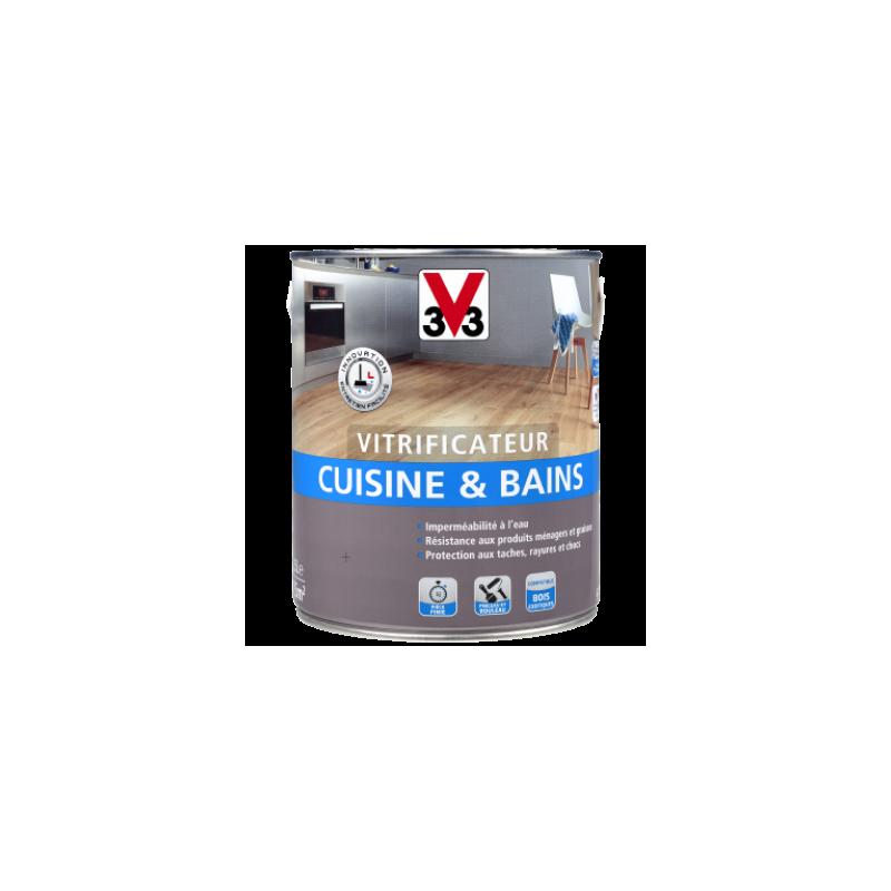 Vitrificateur cuisine bains v33 2 5l incolore mat satin - V33 cuisine et bain ...