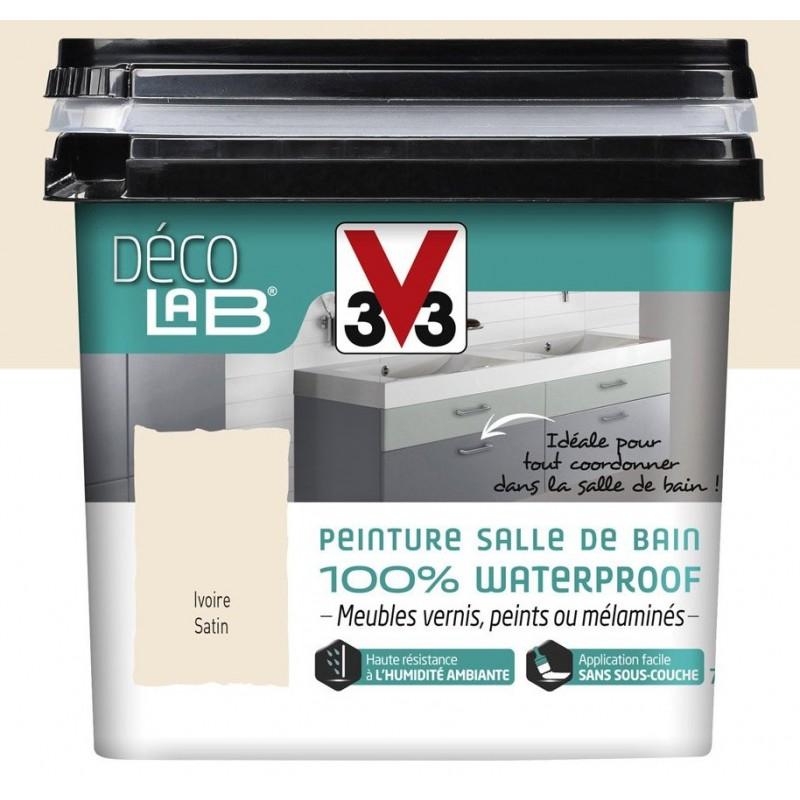 Peinture salle de bain 100 waterproof deco lab v33 750ml - Peinture salle de bain v33 ...