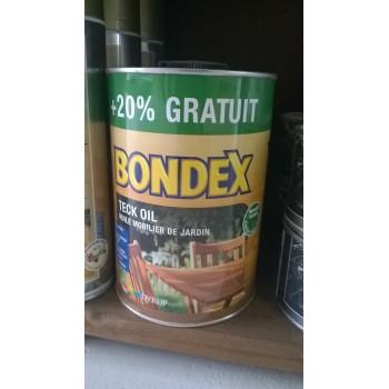 Huile teck BONDEX mobilier de jardin 1l + 20% gratuit