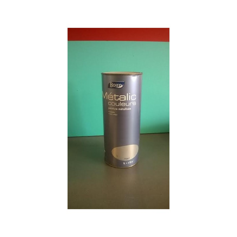 Peinture boiro 1l m talic effet m tal for Peinture boiro castorama