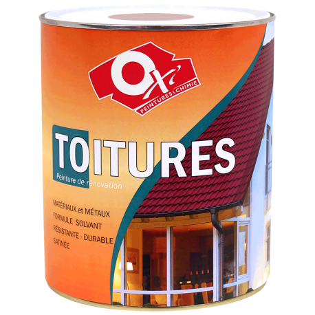 Peinture de r novation sp ciale toitures oxi 2 5 l for Peinture de renovation